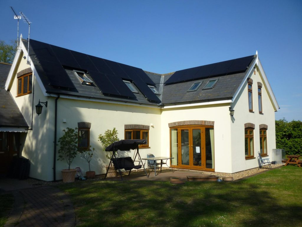 Solar panels on a home in Bristol