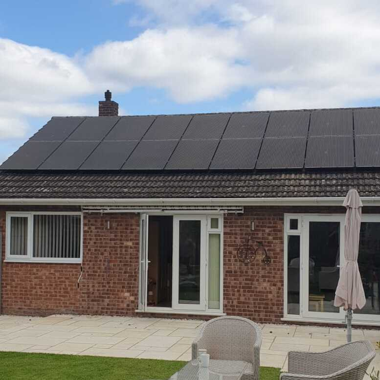 Solar panels on a home in Sheffield