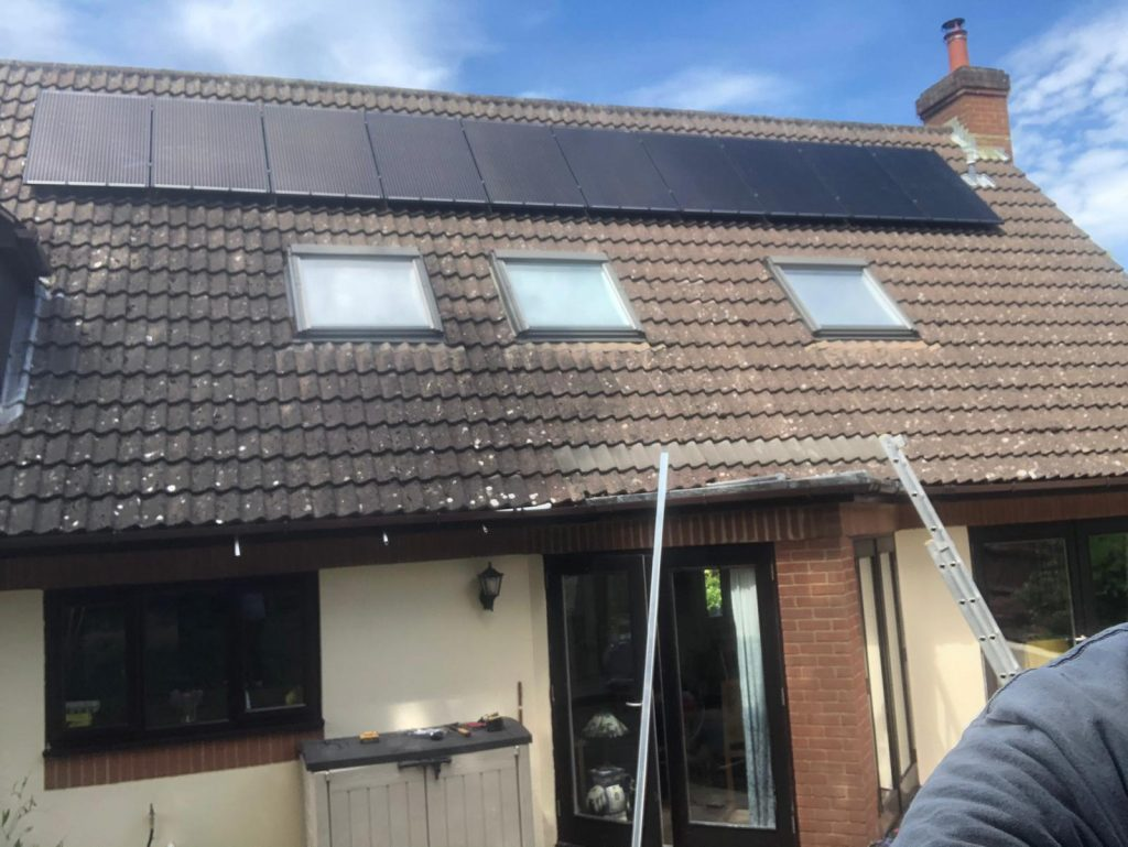 Solar panels on a home in Chester