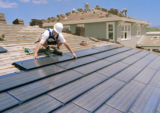 solar panal on roof installations